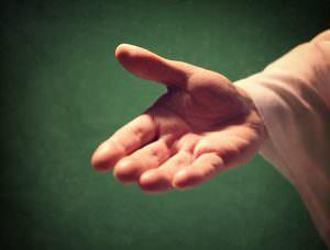 Die Hand Gottes zur Heilung des Herzens