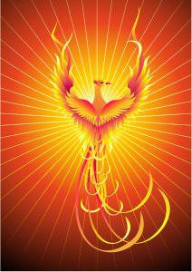 Phönix aus der Asche der Feuervogel
