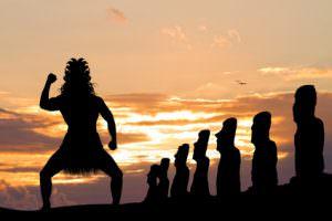 Tanzender Maori auf den Osterinseln